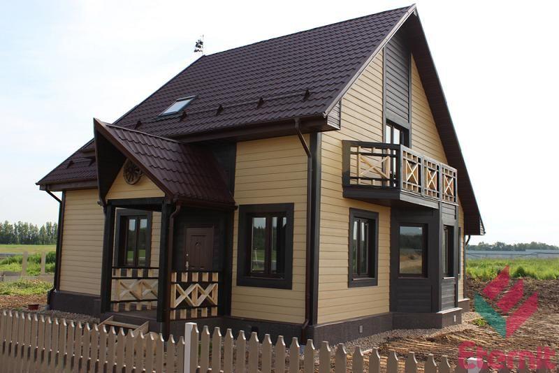 Сайдинг образцы обшитых домов в разных цветах
